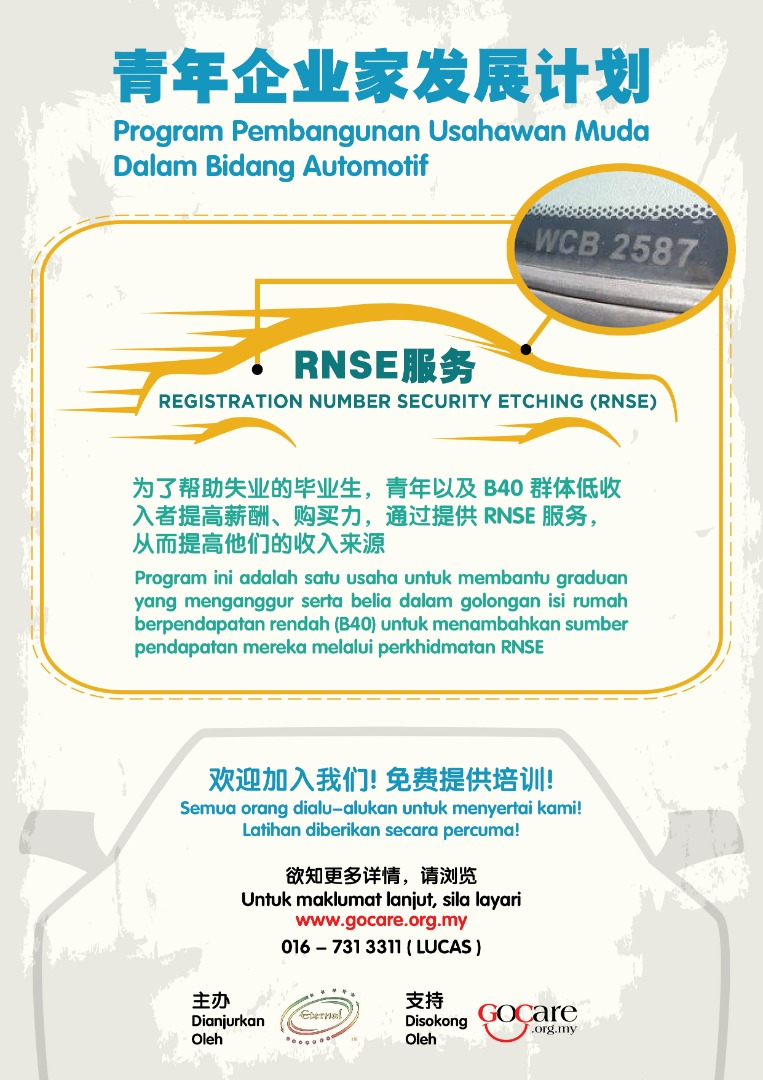 REGISTRATION NUMBER SECURITY ETCHING (RNSE)
